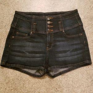 Wax Jean Denim Shorts